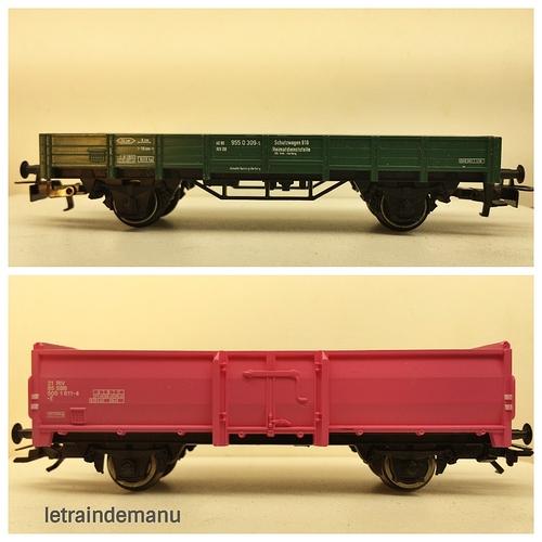 letraindemanu (843b) wagon plat et wagon tombereau Marklin.jpg
