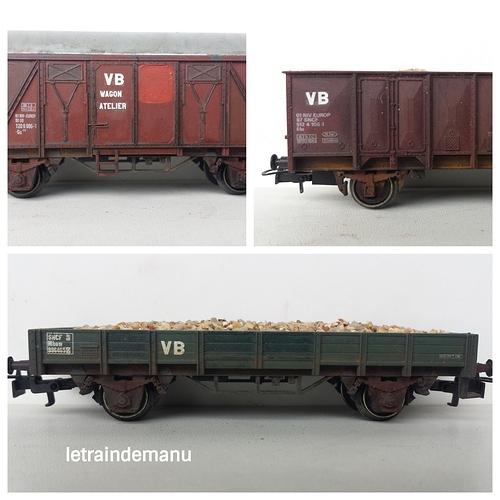 letraindemanu (853b) patine wagons plat couvert et tombereau ho parc de service.jpg