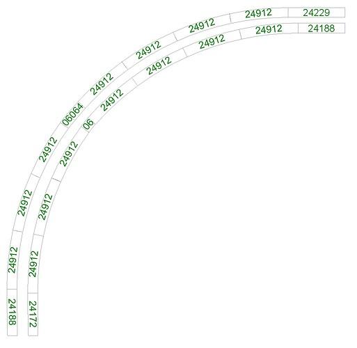 Géométrie - tres grand rayon voie C