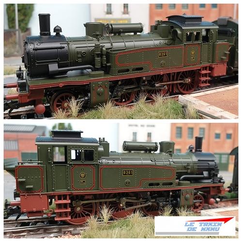letraindemanu (1783b) Patine locomotive à vapeur Marklin Ho T12 Br74