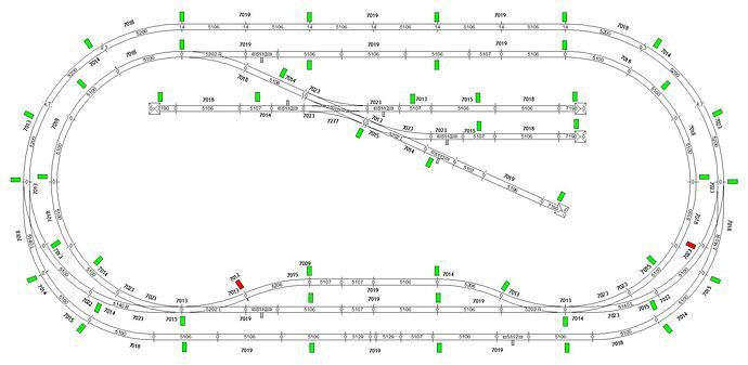 SET-baan M-rail zolder bovenleiding