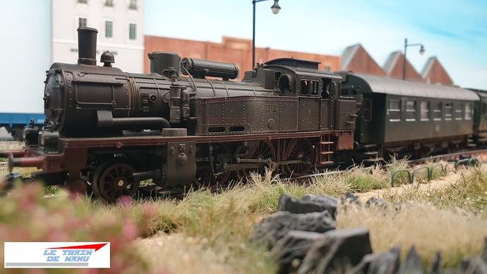 letraindemanu (1791) Patine locomotive à vapeur Marklin Ho T12 Br74