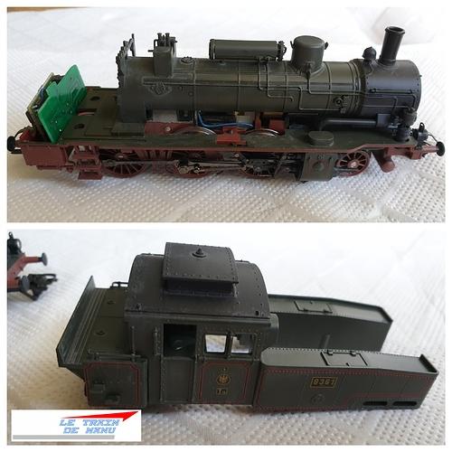 letraindemanu (1786b) Patine locomotive à vapeur Marklin Ho T12 Br74