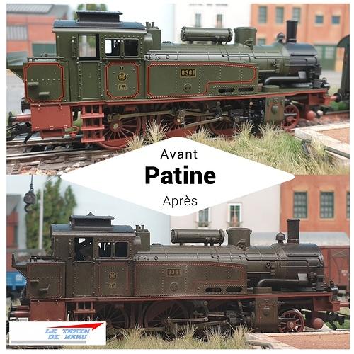 letraindemanu (1789b) Patine locomotive à vapeur Marklin Ho T12 Br74