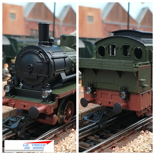 letraindemanu (1784b) Patine locomotive à vapeur Marklin Ho T12 Br74