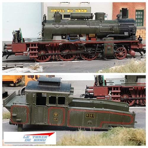 letraindemanu (1787b) Patine locomotive à vapeur Marklin Ho T12 Br74