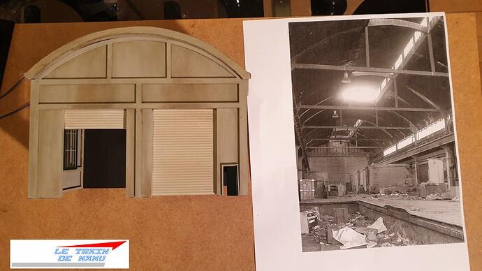 letraindemanu (2062) tuto Remise à locomotives dépôt Ho type béton Cités miniatures