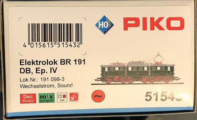 Piko 51543 - E191 c