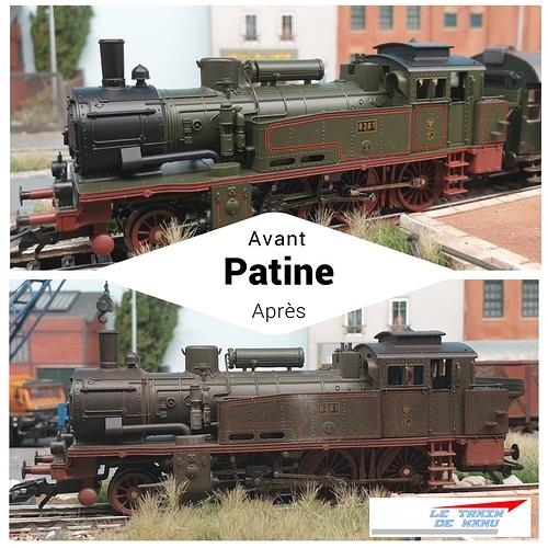 letraindemanu (1790b) Patine locomotive à vapeur Marklin Ho T12 Br74