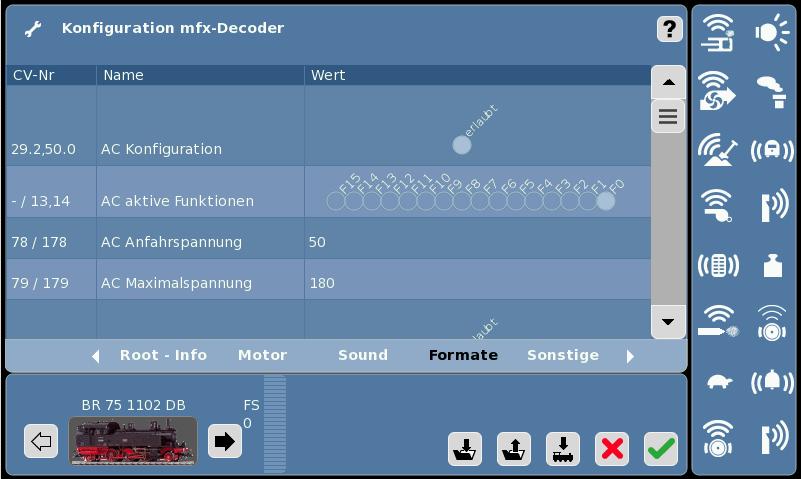Lok Konfiguration-mfx -Formate1