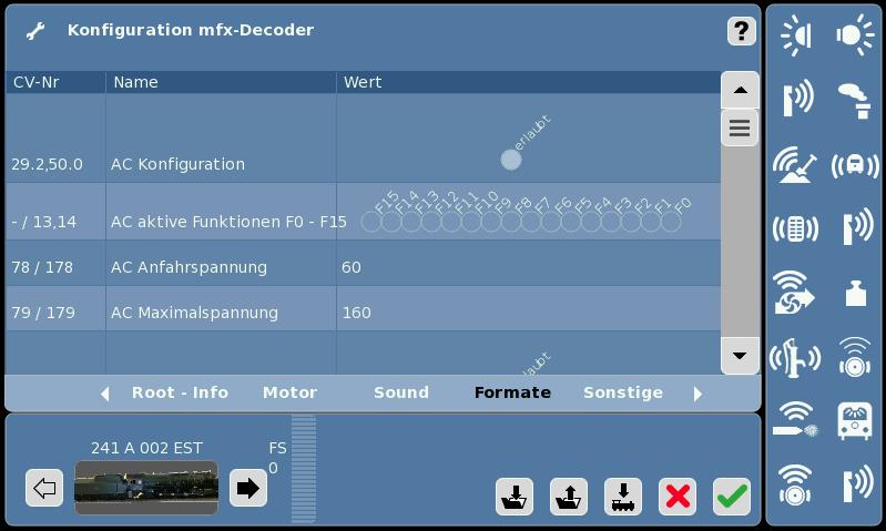Lok Konfiguration EST 241 A 002 Formate 1